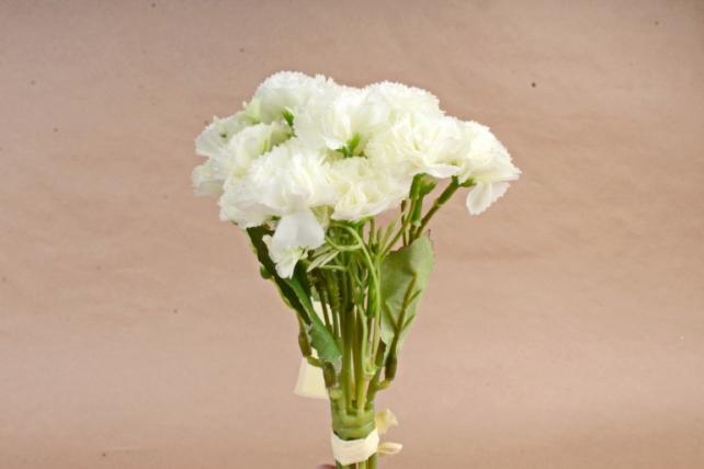 Искусственное растение - Букет гвоздички с гипсофилой м белые