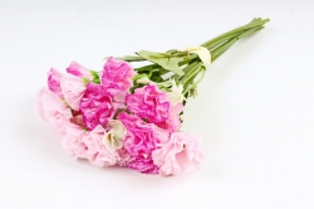 Искусственное растение - Букет гвоздички с гипсофилой розово-малиновые