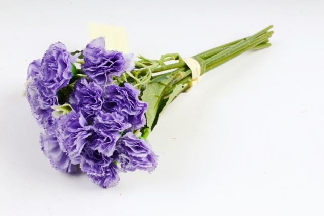 Искусственное растение - Букет гвоздички с гипсофилой  сиреневые