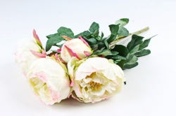 Искусственное растение - Букет пиона  бело-розовый LIU385