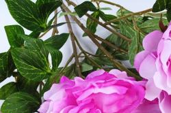 Искусственное растение - Букет Пиона  бело-сиреневый SUN122