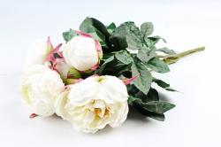Искусственное растение - Букет пиона  белый LIU385