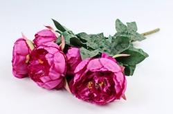 Искусственное растение - Букет пиона  малиновый LIU385
