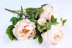 Искусственное растение - Букет Пиона розово-кремовый SUN122