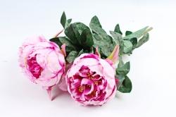 Искусственное растение - Букет пиона  розовый LIU385