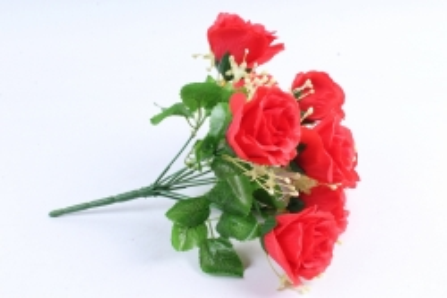 Искусственное растение - Букет роз красный