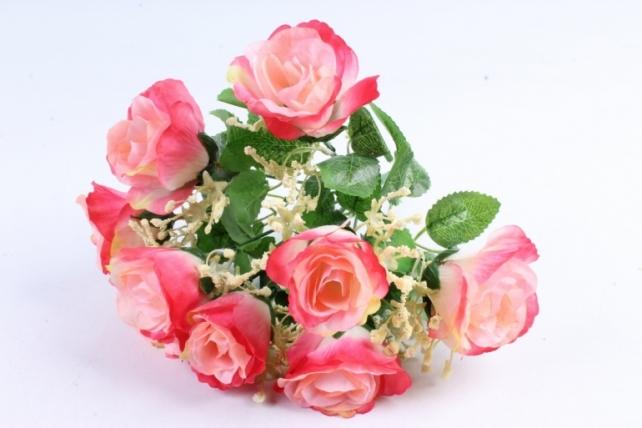 Искусственное растение - Букет роз розово-малиновый