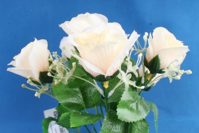 Искусственное растение - Букет роз шампань