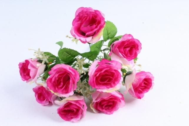 Искусственное растение - Букет роз сиреневый