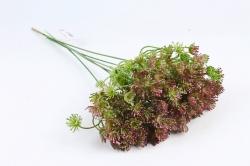 Искусственное растение - Букет укропа тёмно-розовый 45 см LIU375