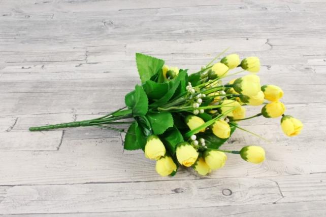 Искусственное растение - Бутончики весенние с росянкой лимонные
