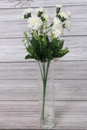 Искусственное растение - Цветочки-кудряшки белые