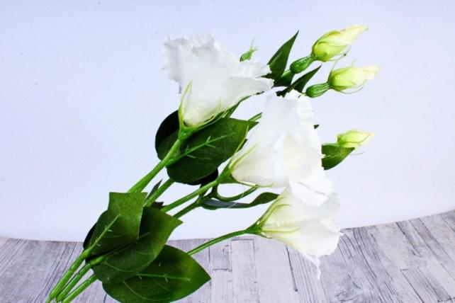 Искусственное растение - Цветок Эустомы (3 шт в уп) Белый 45 см SUN357