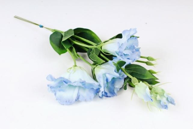 Искусственное растение - Цветок Эустомы (3 шт в уп) Голубой  SUN357