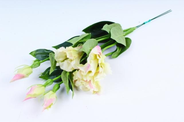 Искусственное растение - Цветок Эустомы (3 шт в уп) Розово-белый SUN357