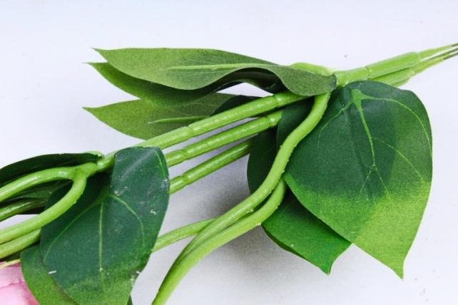 Искусственное растение - Цветок Эустомы (3 шт в уп) Розовый  SUN357