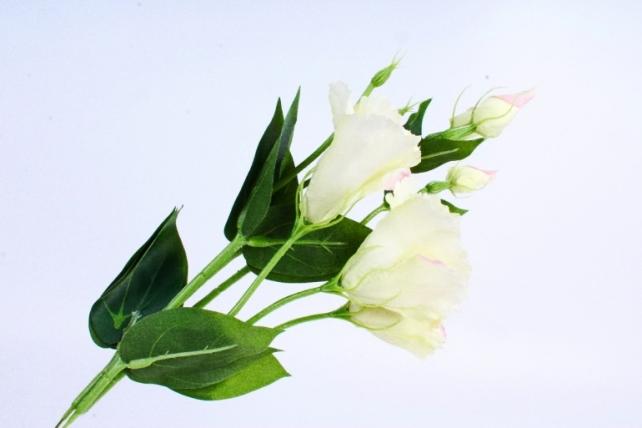 Искусственное растение - Цветок Эустомы (3 шт в уп) Салатово-розовая  SUN357