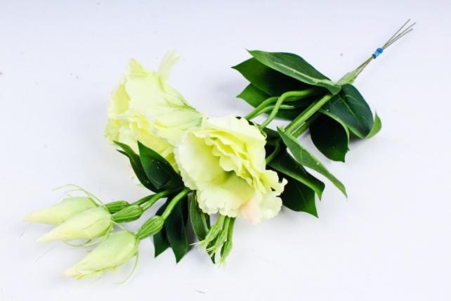 Искусственное растение - Цветок Эустомы (3 шт в уп) Салатовый  SUN357