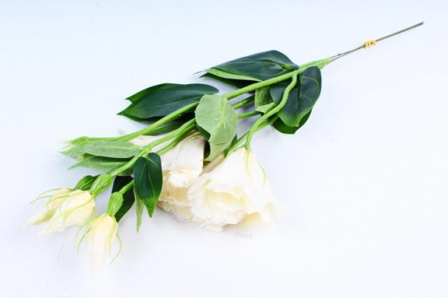 Искусственное растение - Цветок Эустомы (3 шт в уп) Шампань SUN357