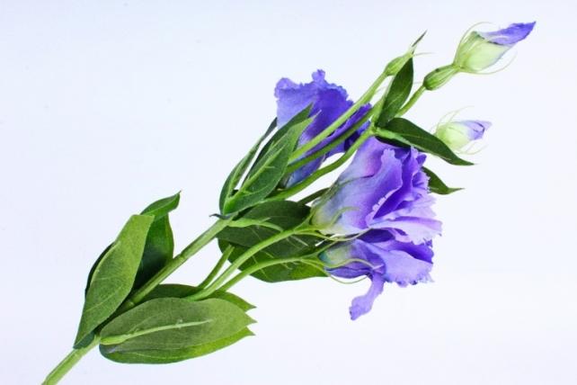 Искусственное растение - Цветок Эустомы (3 шт в уп) Синий SUN357