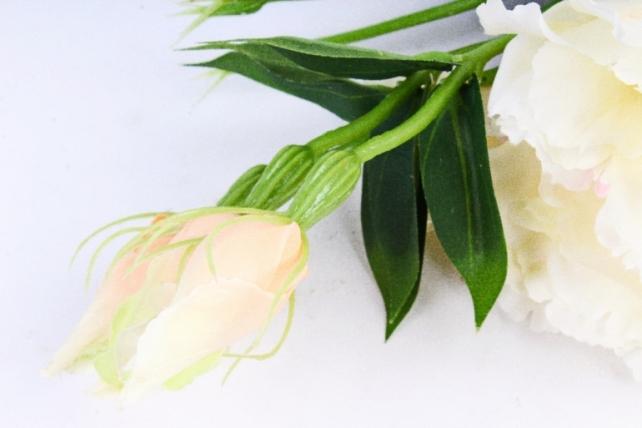 Искусственное растение - Цветок Эустомы (3 шт в уп) Ваниль  SUN357