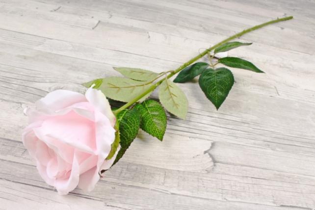 Искусственное растение - Цветок Розы бокаловидный розовый  SUN022-1995