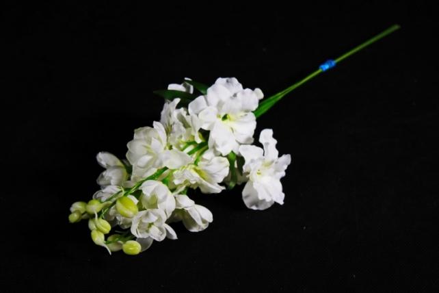 Искусственное растение - Дельфиниум белый  (3 шт в уп) SUN476