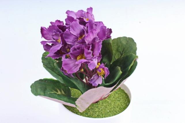 Искусственное растение - Фиалка комнатная фиолетовая