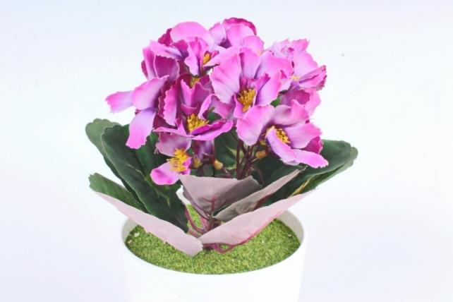 Искусственное растение - Фиалка комнатная пурпурная