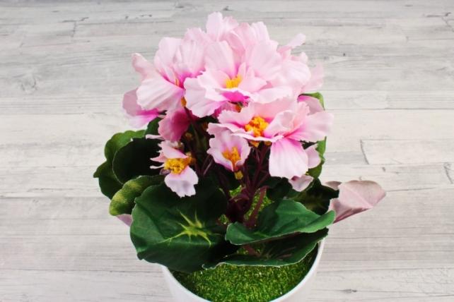 Искусственное растение - Фиалка комнатная розовая