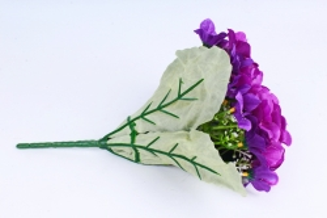 Искусственное растение - Фиалки Букет фиолетовые