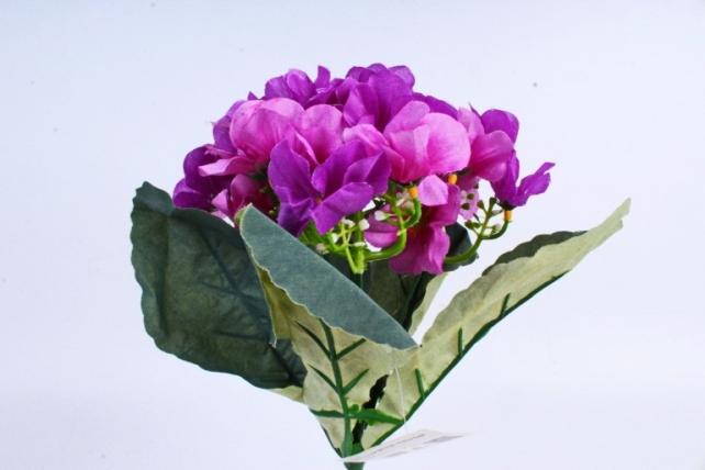 Искусственное растение - Фиалки Букет пурпурные