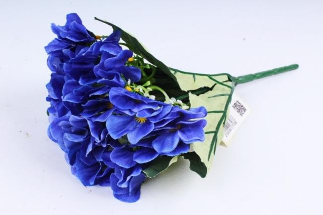 Искусственное растение - Фиалки Букет синие