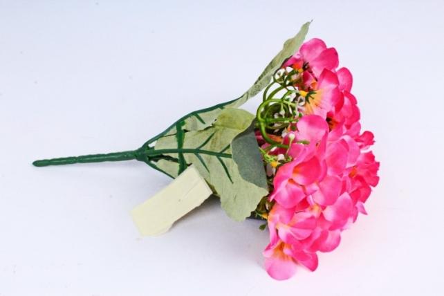 Искусственное растение - Фиалки Букет ярко-розовые