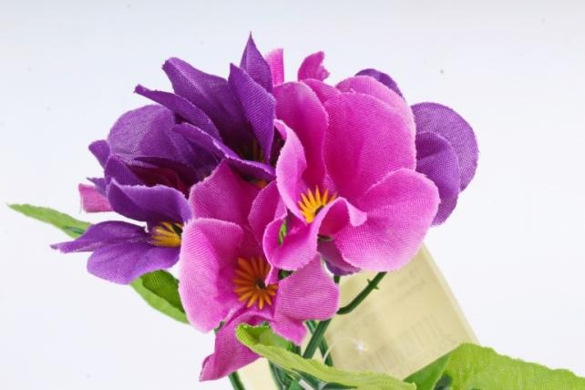 Искусственное растение - Фиалки мини  фиолетово-сиреневые