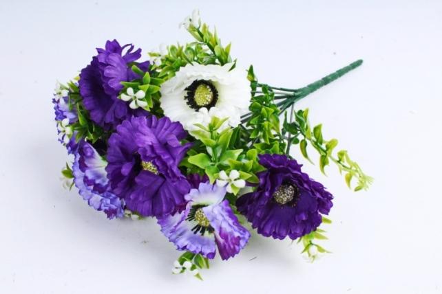 Искусственное растение - Гацания с гипсофилой сине-белая