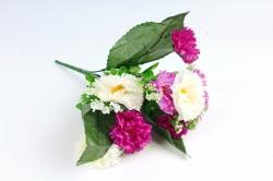 Искусственное растение - Гацания в листьях гортензии бело-сиреневая