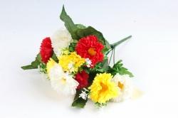 Искусственное растение - Гацания в листьях гортензии красно-жёлтая