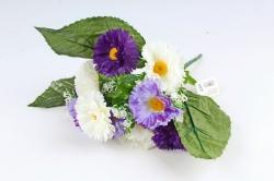 Искусственное растение - Гацания в листьях гортензии сине-белая