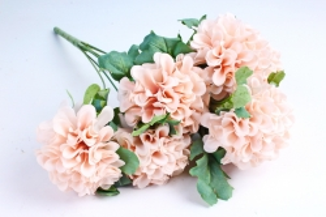 Искусственное растение - Георгины помпонные кремовый