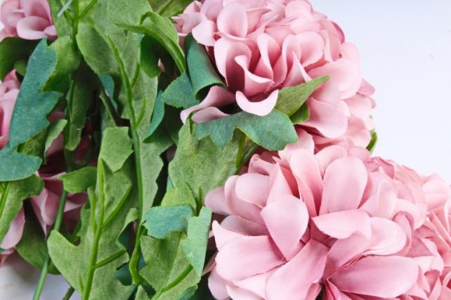 Искусственное растение - Георгины помпонные пудровый