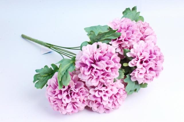 """Искусственное растение - Георгины помпонные """"пыльная роза"""""""