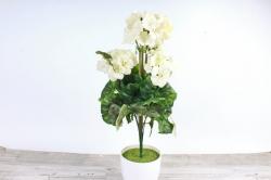 Искусственное растение - Герань белая