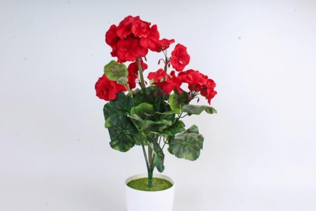 Искусственное растение - Герань красная