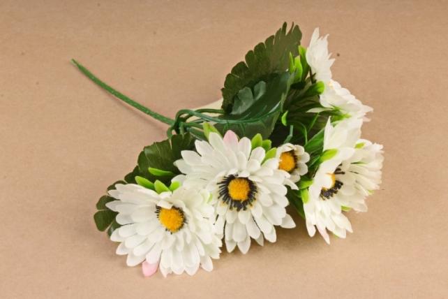 Искусственное растение - Герберы  белые Б10876