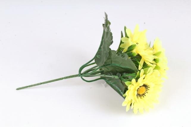 Искусственное растение - Герберы  жёлтые Б10876