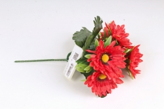 Искусственное растение - Герберы  красные Б10876