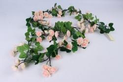 Искусственное растение - Гирлянда с розами 2 м розовая