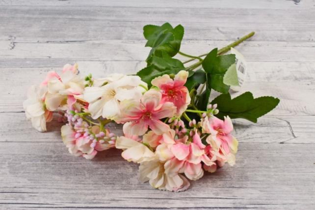 Искусственное растение - Гвоздичка травянка бело-розовая Б10807
