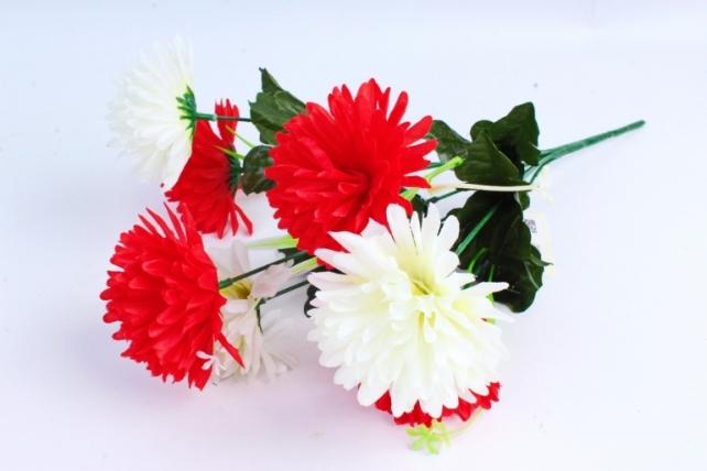 Искусственное растение - Гвоздика бело-красная